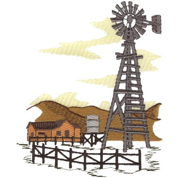 Rustic Windmill Serendipity Embroidery